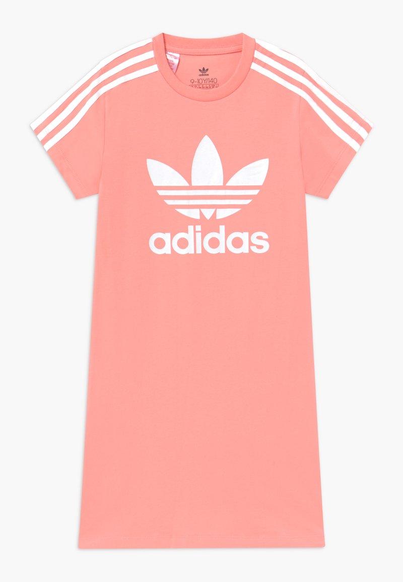 adidas Originals - SKATER DRESS - Jersey dress - pink/white