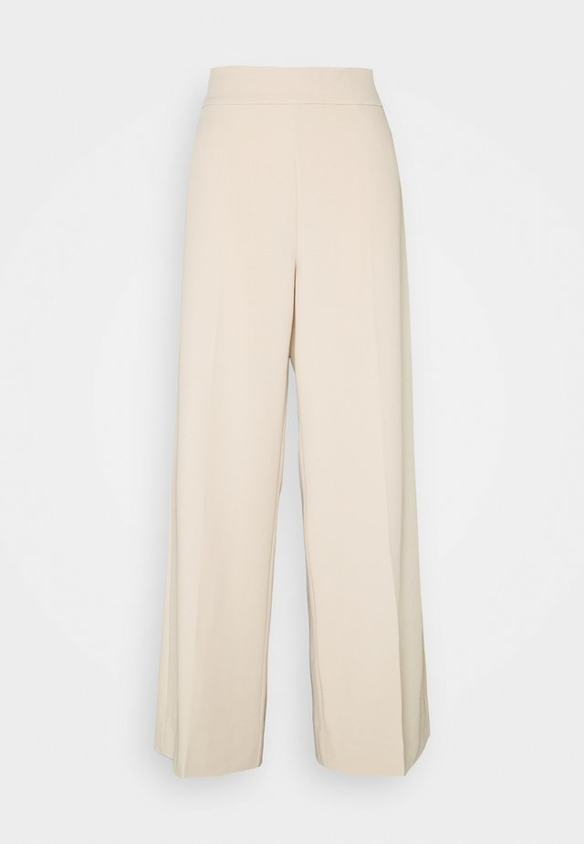 ZETTAIW WIDE PANT - Trousers - powder beige