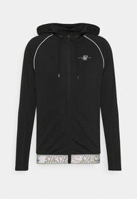 SIKSILK - SCOPE SIGNATURE TAPE ZIP THROUGH HOODIE - Training jacket - black - 3
