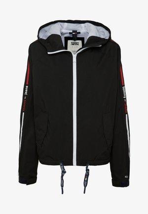 BRANDED SLEEVES - Summer jacket - black