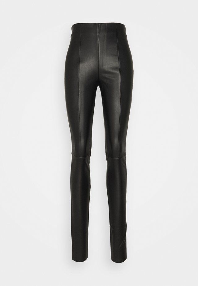 VMSOLANIMA COATED LEGGING - Leggings - black