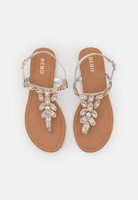 BEBO - LAILAH - T-bar sandals - silver - 5