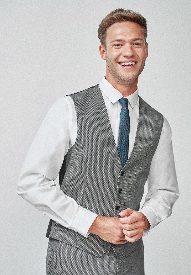 Next - TEXTURED - Suit waistcoat - grey