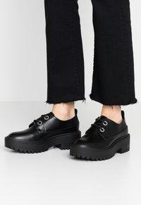 Even&Odd - Šněrovací boty - black - 0