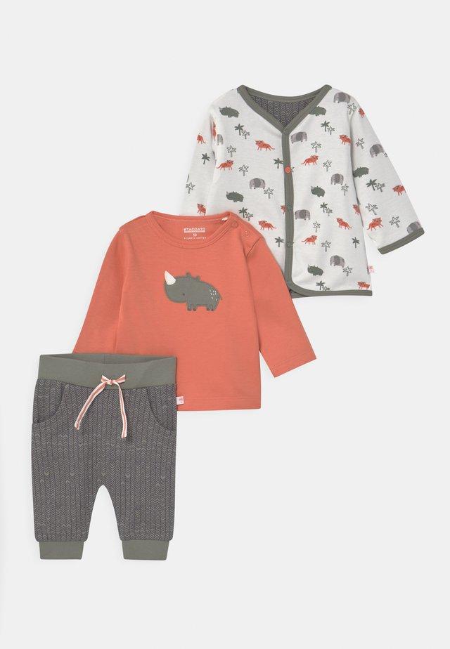 SET - Strickjacke - orange/khaki