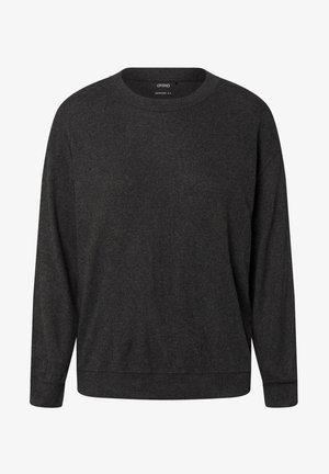 PLAIN SOFT-TOUCH - Haut de pyjama - dark grey