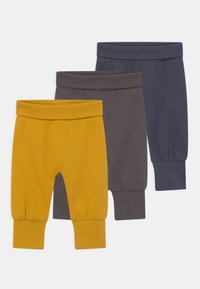 Sense Organics - SJORS BABY 3 PACK UNISEX - Trousers - navy/mustard/anthracite - 0