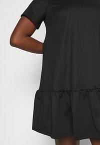 Simply Be - PONTE TSHIRT DRESS - Day dress - black - 5