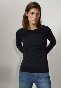 Massimo Dutti - Long sleeved top - black - 0