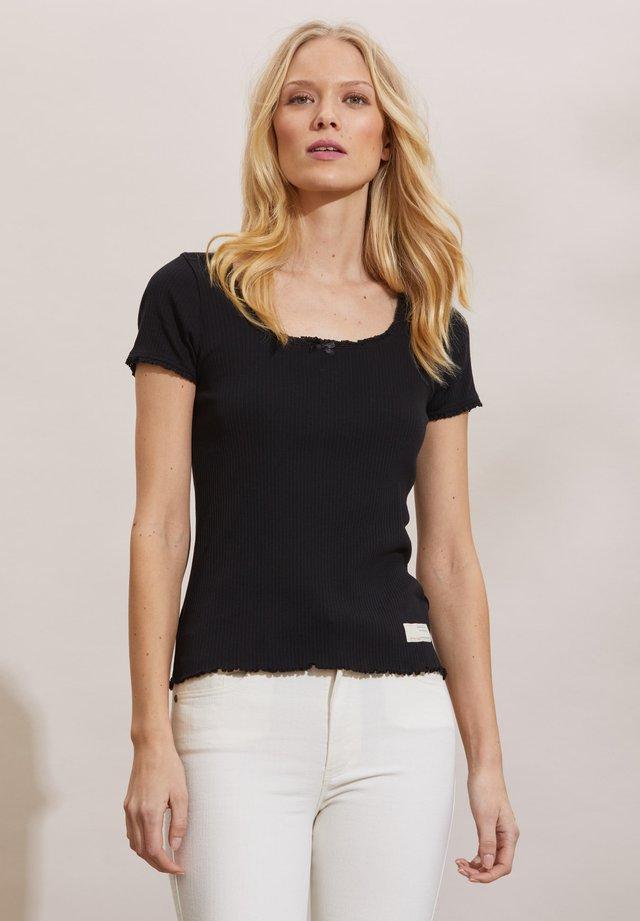 Print T-shirt - almost black