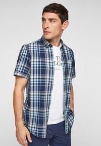 s.Oliver - Shirt - blue/white check - 6