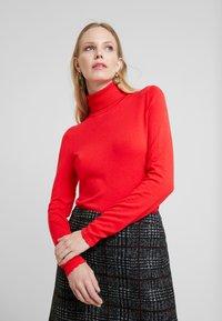 Esprit Collection - WINTER CHECK ME - Mini skirt - black - 3