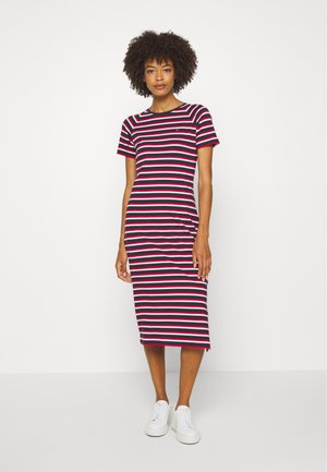 BONITA SLIM DRESS - Jersey dress - ombre/primary red