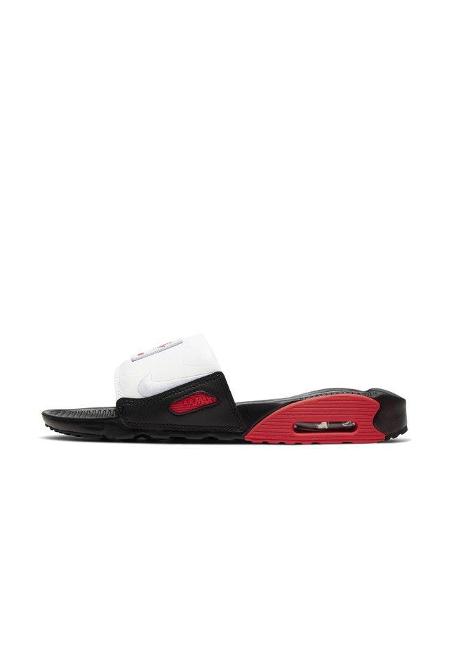 NIKE AIR MAX 90 DAMEN-SLIDES - Rantasandaalit - black/chile red/white