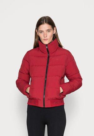 LOGO HEM SHORT PUFFER JACKET - Winter jacket - virginia red