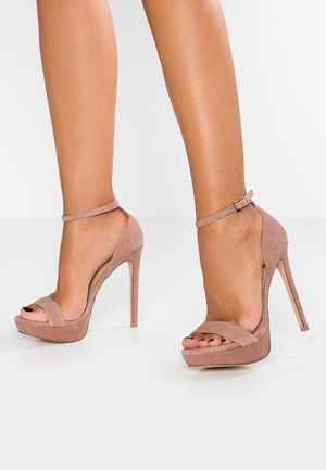 SARAH - High heeled sandals - tan