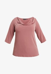 Dorothy Perkins Curve - COWL NECK DUSTY ROSE - Long sleeved top - pink - 3