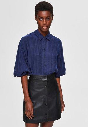 Button-down blouse - maritime blue