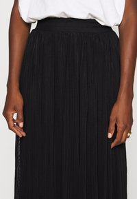 Anna Field - Plisse mesh mini skirt - Áčková sukně - black - 5