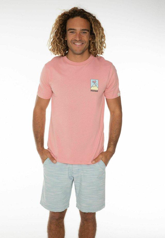 ISAC - T-shirt print - silver pink
