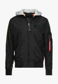Alpha Industries - HOOD - Bomber bunda - black - 5