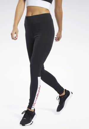 TRAINING ESSENTIALS LINEAR LOGO LEGGINGS - Leggings - black