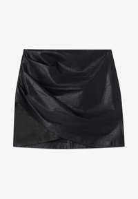 Stradivarius - Wrap skirt - black - 4
