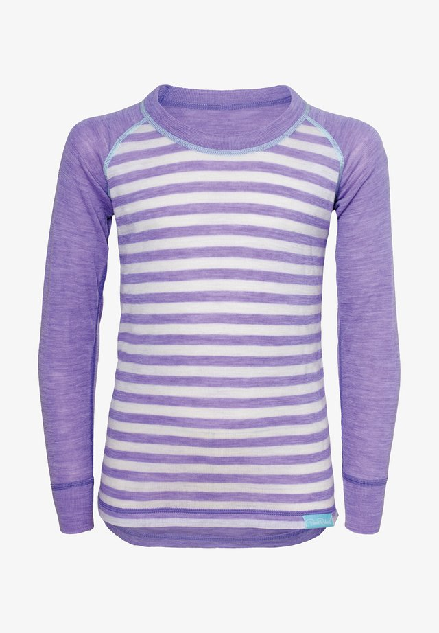 Long sleeved top - lilac stripe