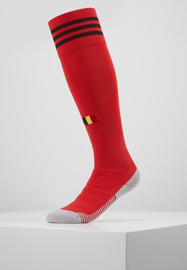 BELGIUM RBFA HOME SOCKS - Sports socks - red