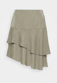 Bruuns Bazaar - LAERA DOLPHINE SKIRT - A-line skirt - olive tree - 5