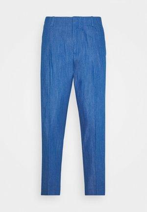 PLEATED SUIT PANT - Kalhoty - aqua blue