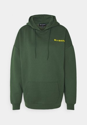 TEXT HOODIE - Jersey con capucha - green