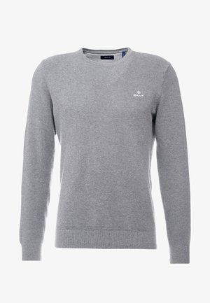 C NECK - Jersey de punto - dark grey melange