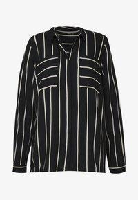 ONLY - ONLFREYA  - Button-down blouse - black/cloud dancer - 5