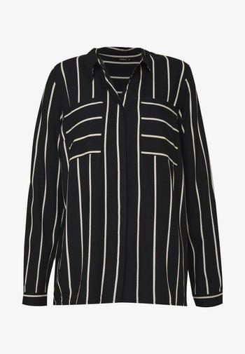ONLFREYA  - Button-down blouse - black/cloud dancer