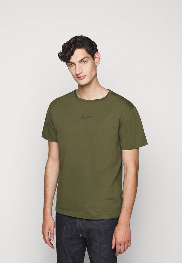 Print T-shirt - verde oliva