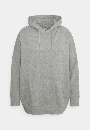 OVERSIZED HOODIE - Sweatshirt - grey marl