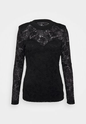 DALIA - T-shirt à manches longues - jet black