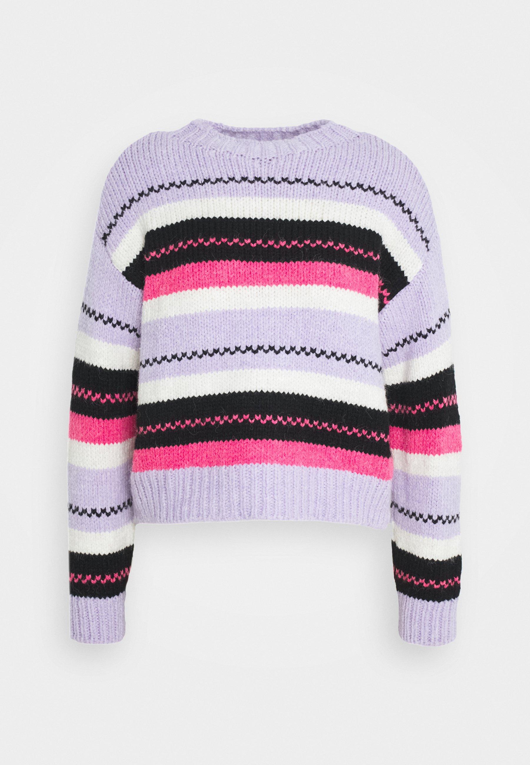 Flerfärgade Stickade tröjor | Dam | Köp stickade damtröjor