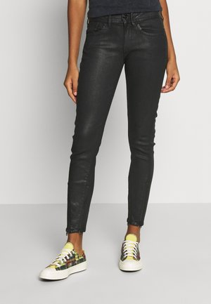LYNN MID SKINNY ANKLE 2-ZIP - Jeans Skinny Fit - black obsidian cobler