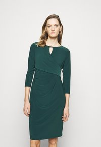Lauren Ralph Lauren - MID WEIGHT DRESS TRIM - Shift dress - deep pine - 0