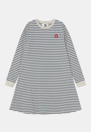 AYA DRESS - Jersey dress - off-white/blue