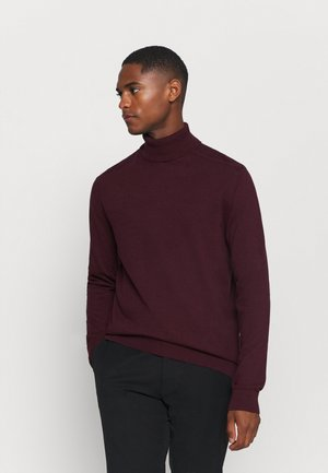 SLHBERG ROLL NECK - Jumper - winetasting melange