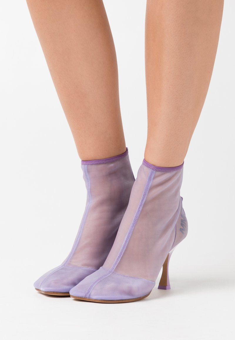 MM6 Maison Margiela - High heeled ankle boots - lavender frost