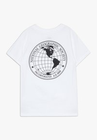 Vans - VANS GEO GLOBE KIDS - Camiseta estampada - white - 1