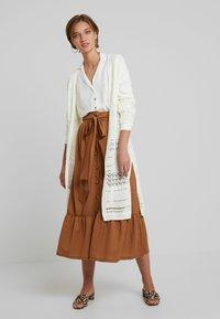 mint&berry - A-line skirt - brown - 1