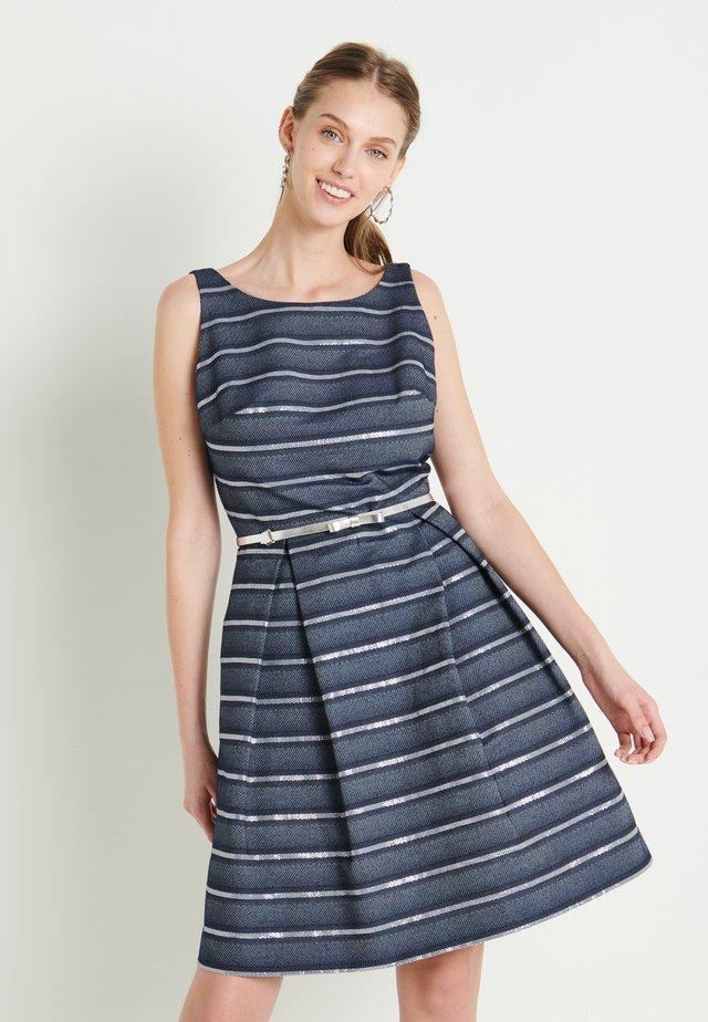 Vestido de cóctel - marine /silber