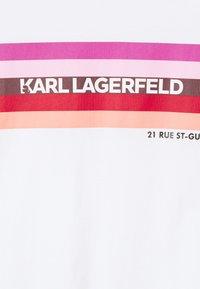 KARL LAGERFELD - STRIPE GRAPHIC LOGO - Print T-shirt - white - 5