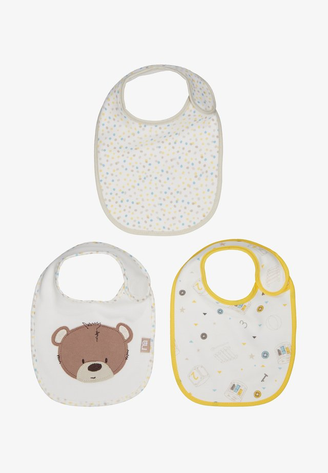 BABY TEDDYS TOY BOX 3 PACK - Ruokalappu - beige