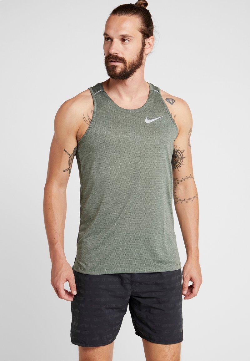 Nike Performance - DRY COOL MILER TANK - Sports shirt - juniper fog/silver